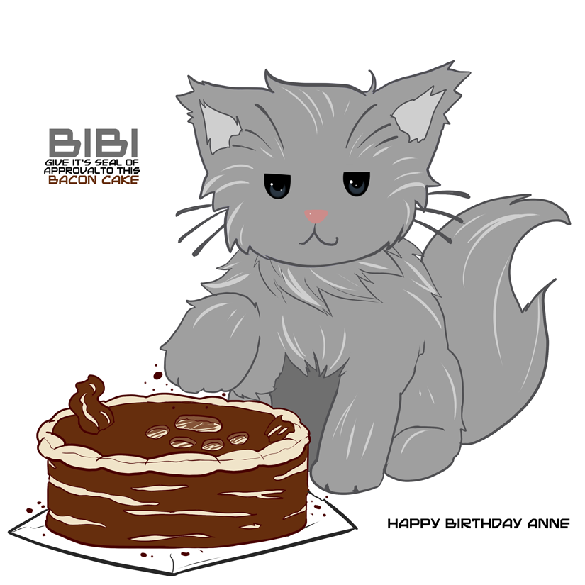 Delivery Moogle Birthday Card Final Fantasy Themed: Of Goat, Cat And Bacon Cake